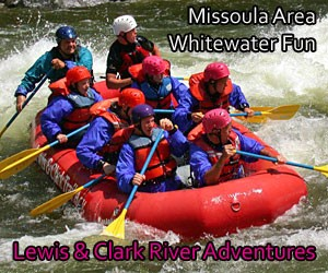 Lewis & Clark River Adventures - Guided and family-friendly raft trips on the Clarks Fork, whitewater fun downstream in the Alberton Gorge. Select from half-day, full-day and appetizer or dinner options.