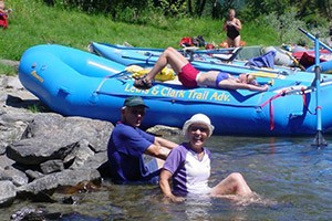 Lewis & Clark Rafting - easy, in-town Missoula :: Guided & family-friendly raft trips on the Clarks Fork in downtown Missoula. Ideal for wedding, reunion & family groups (minimum # required). Easy for all ages, lots of fun.