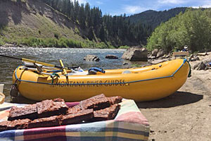 Montana River Guides - Raft & BBQ combo