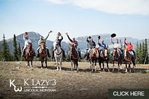 Horseback Rides near Glacier - K Lazy 3 Outfitters