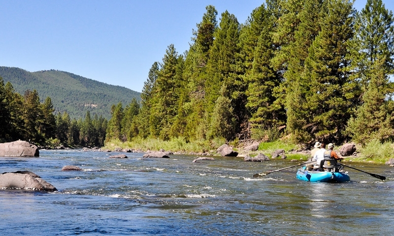 Floating the Blackfoot River near Missoula