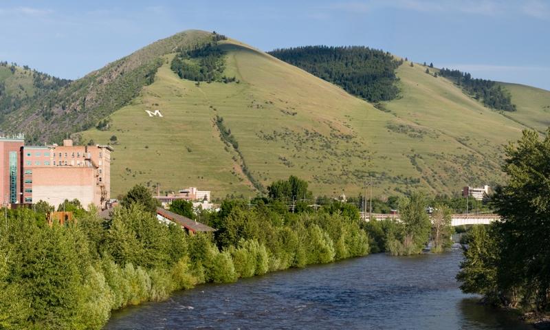 Missoula Montana Mount Mt Sentinel Clark Fork Clarks Fork