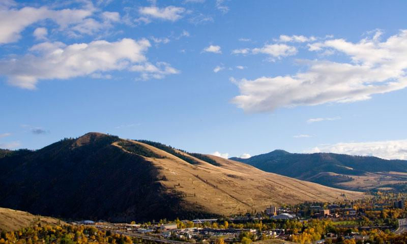 Overlooking Missoula and Mount Sentinel