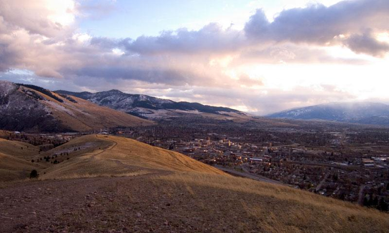 View of Missoula from Water Works Hill