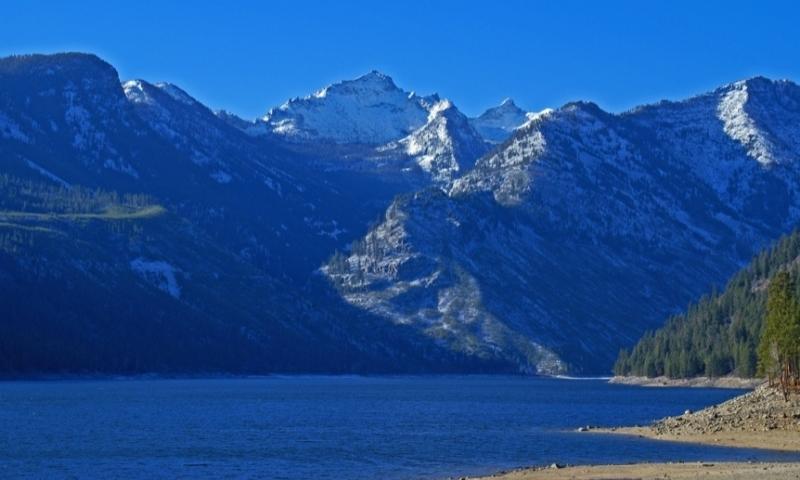 Bitterroot Mountains and Lake Como