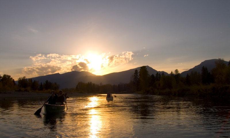 Canoeing the Bitterroot River