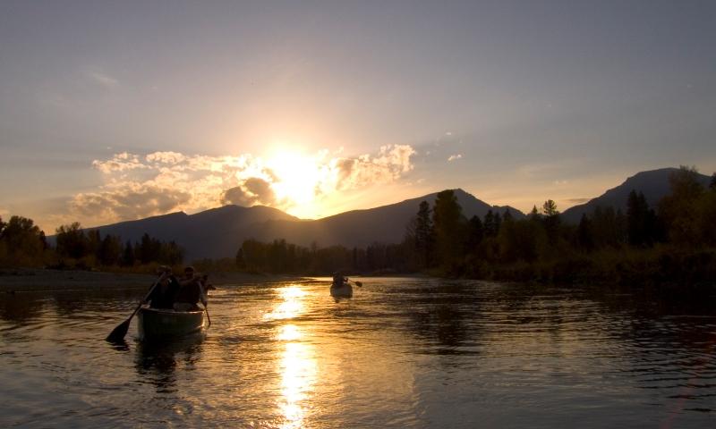 Canoe Canoeing Missoula Montana