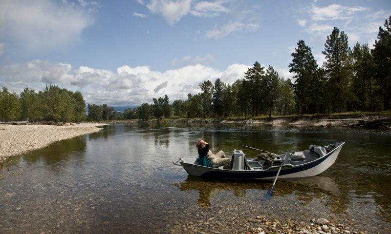 Drift Boat Bitterroot River Montana