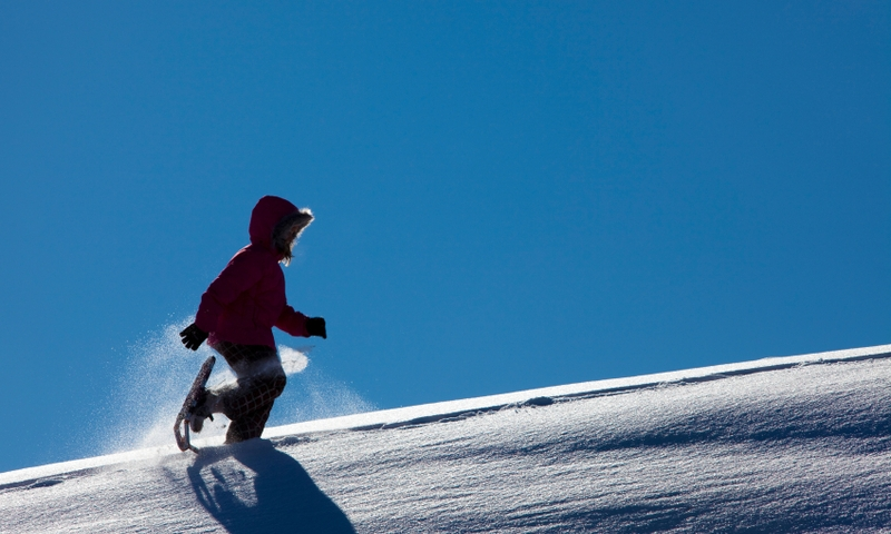 Snowshoeing Winter Kids